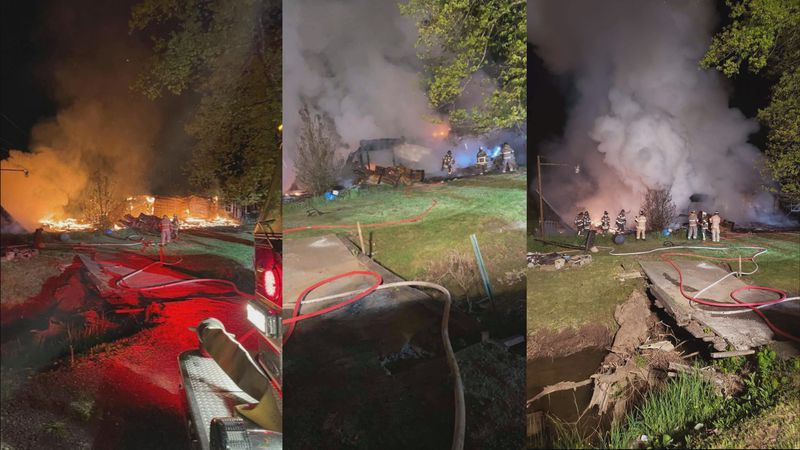 Structure Fire on Wilsonburg Road in Reynoldsville, WV