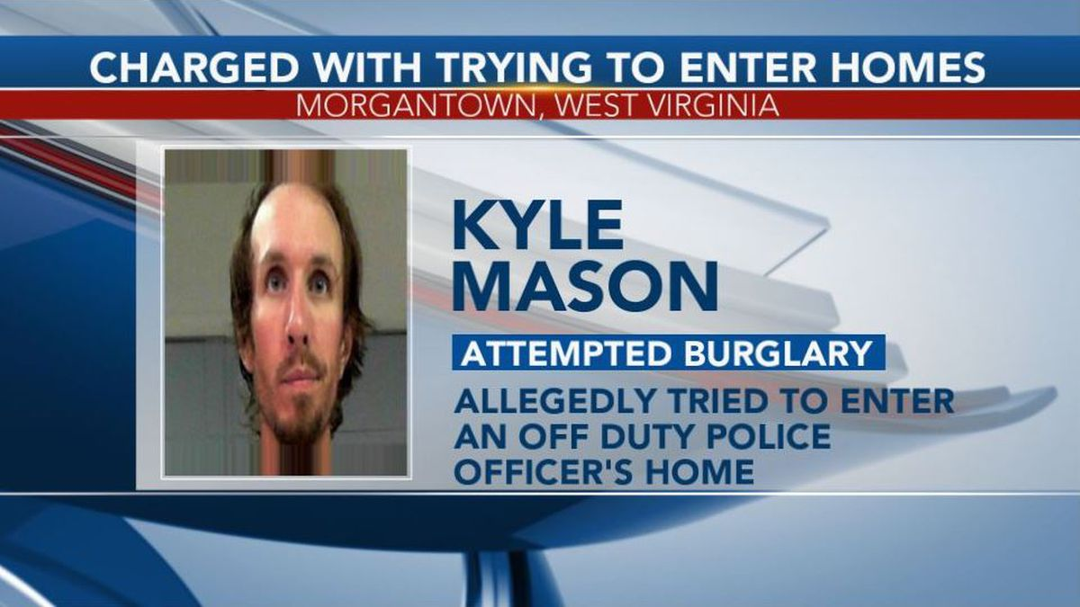 Kyle Mason was arrested and charged with attempted burglary. (Picture Credit: North Central Regional Jail)
