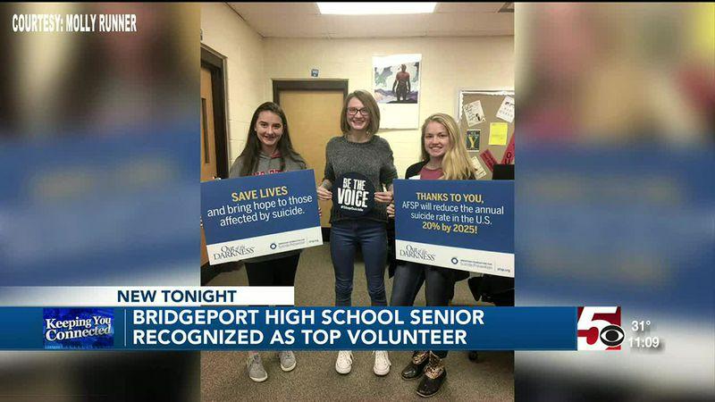 Bridgeport High School student recognized for her volunteer work
