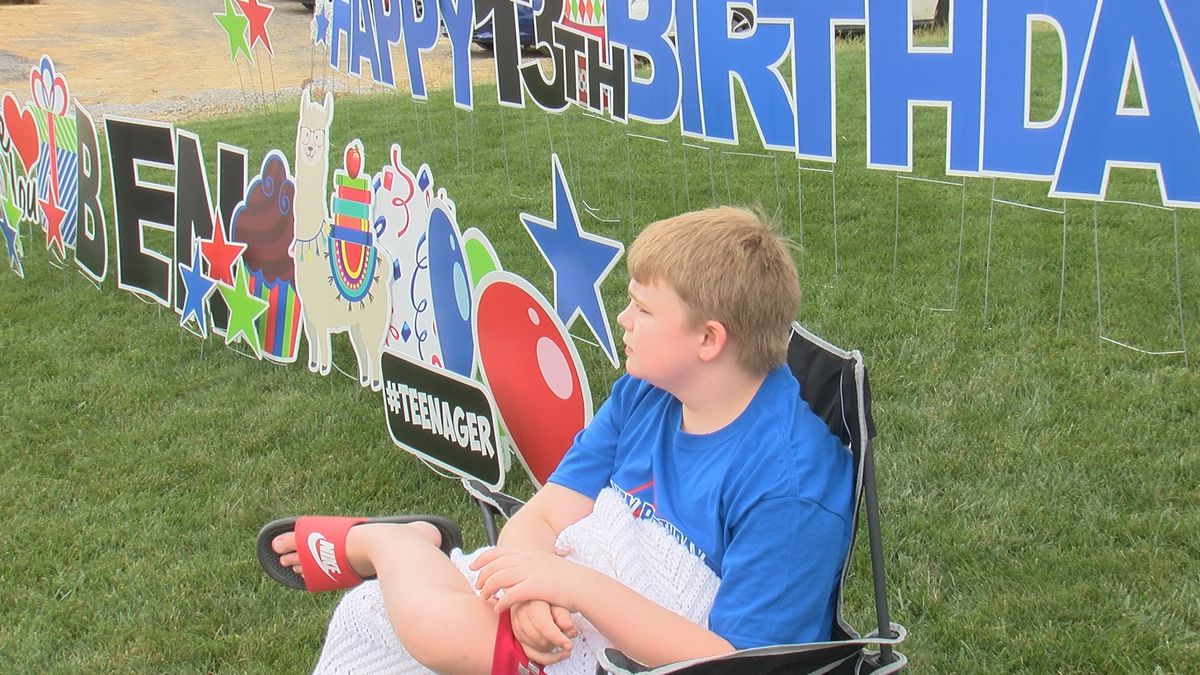 Birthday parade for boy with autism