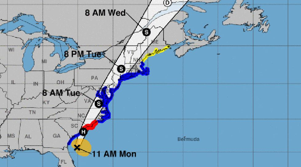Isaias is expected to become a hurricane before making landfall Monday night.