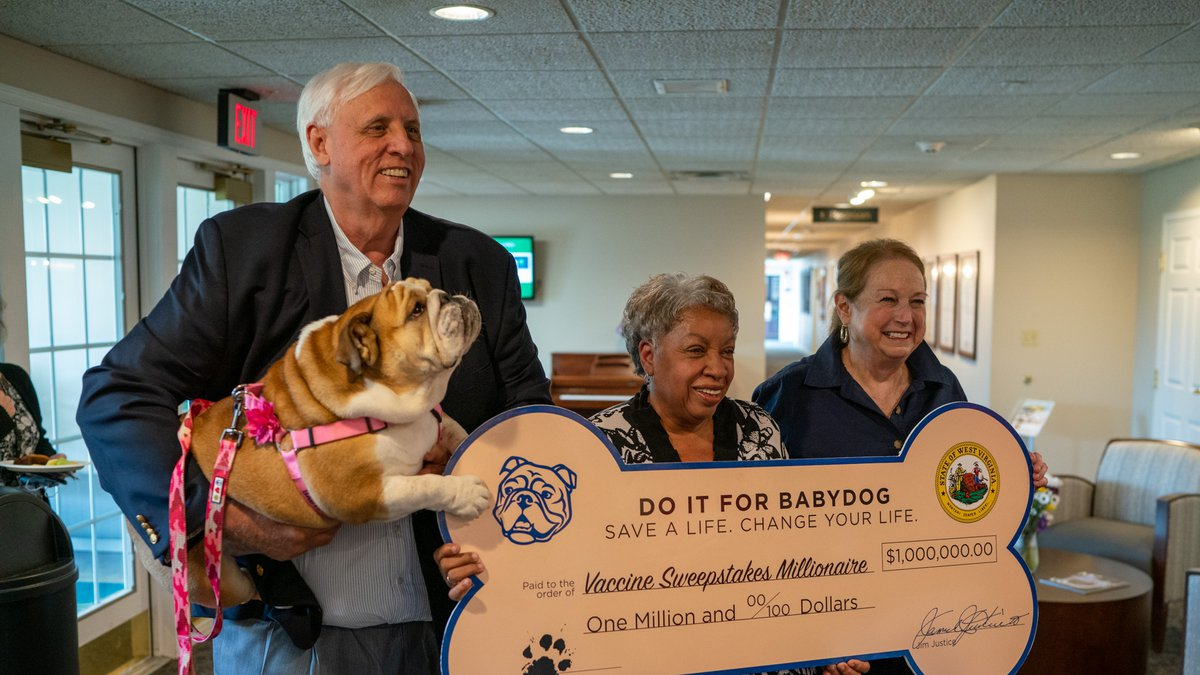 """Former healthcare worker wins $1 million through """"Do it for Babydog"""" Vaccination Sweepstakes"""