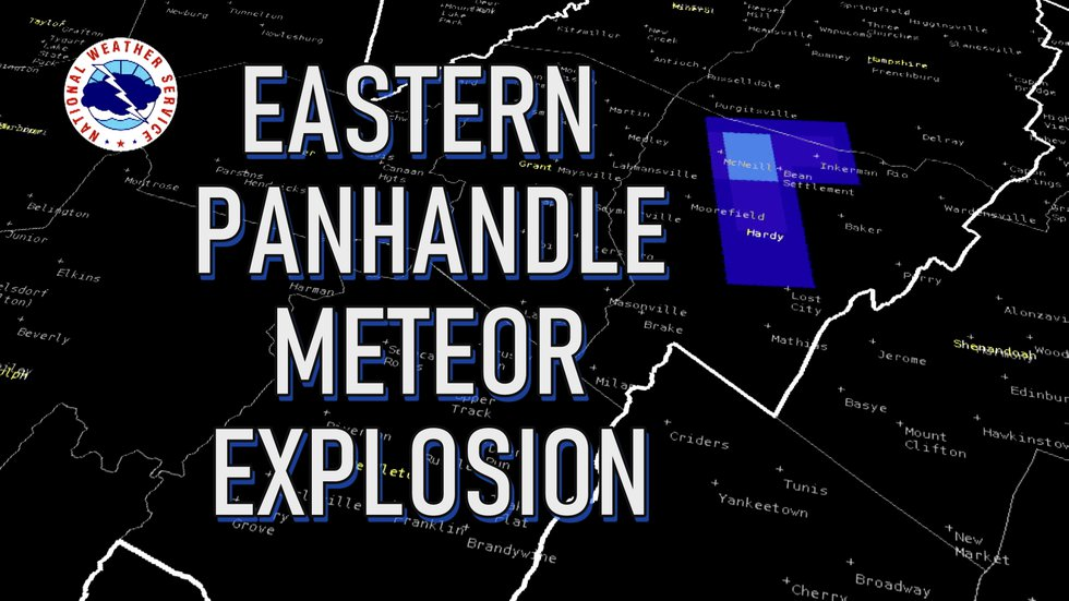 Meteor may have exploded above the Eastern Panhandle