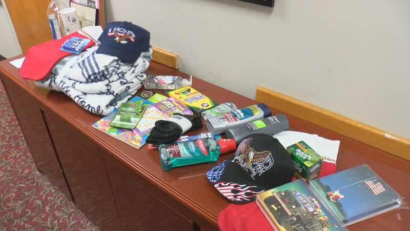 Every year the Progressive Young Women's Association collects stockings to hand out to veterans...