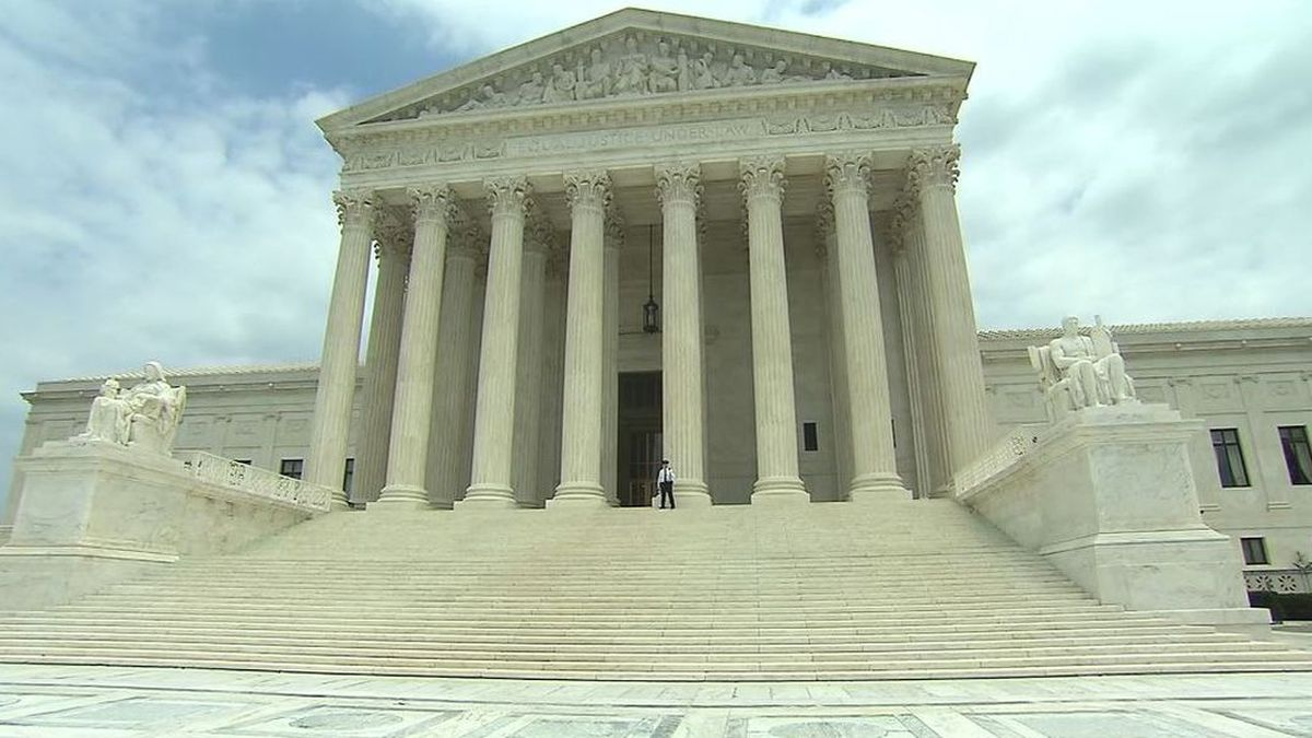 This photo shows the U.S. Supreme Court building.