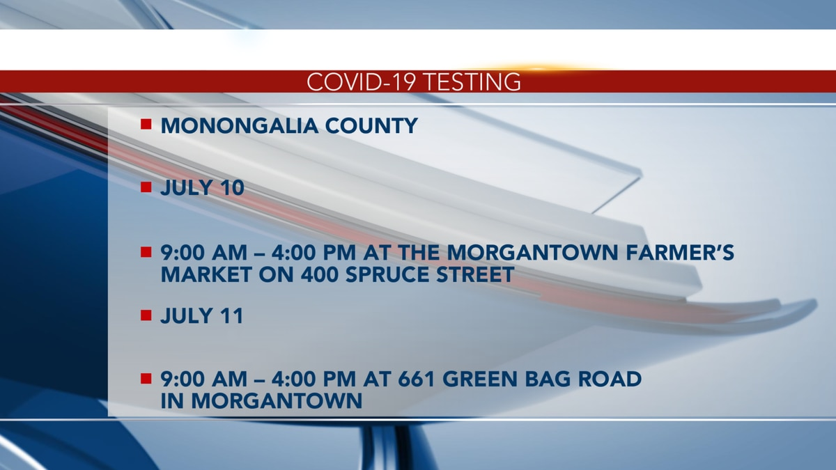 Free COVID-19 testing available in multiple counties.