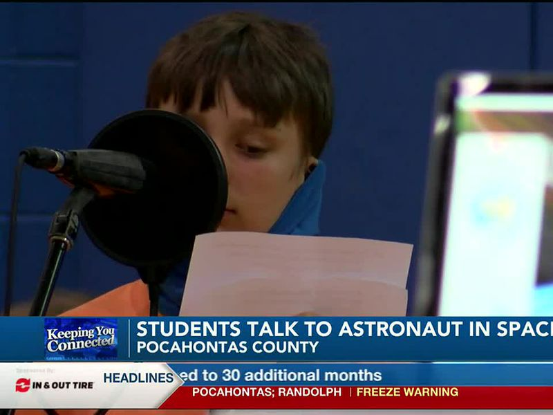 Green Bank Elementary-Middle School students got the chance to talk to an astronaut.