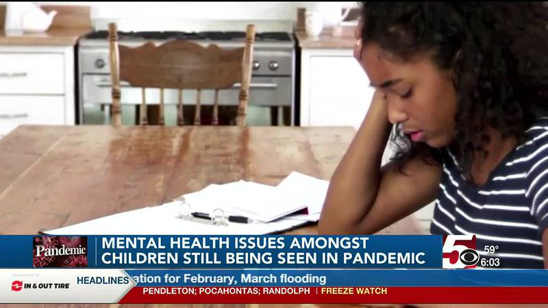 Mental health issues amongst children still being seen in pandemic