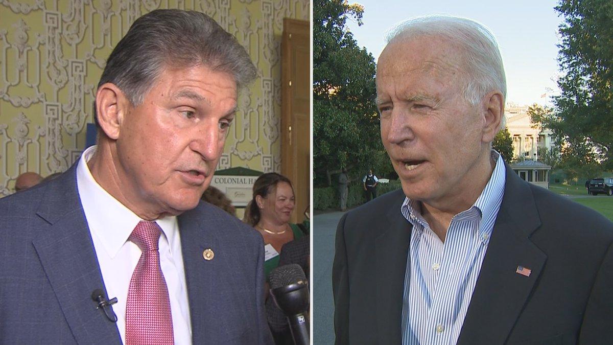Biden comments on Manchin's no vote