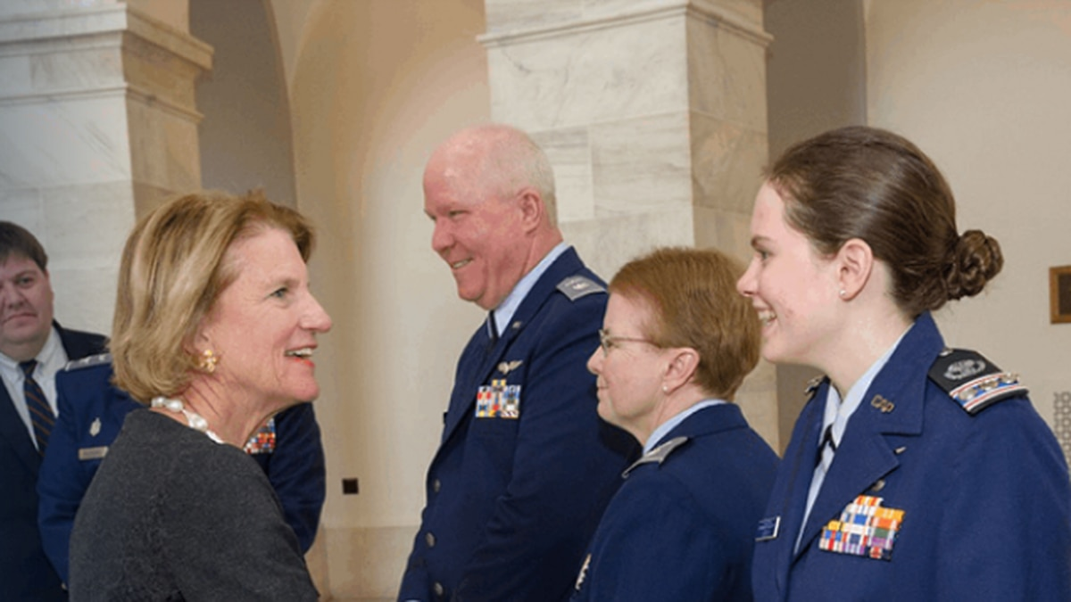 U.S. Senator Shelly Moore Capito greets service members