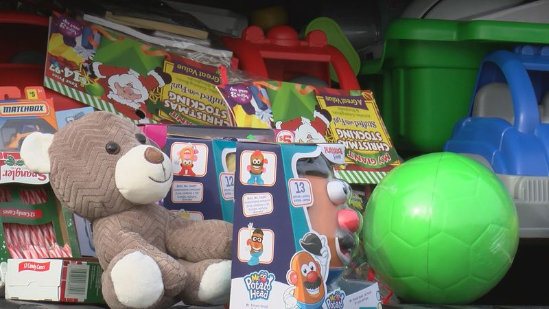 Local Bikers and Santa collect toys for children in need