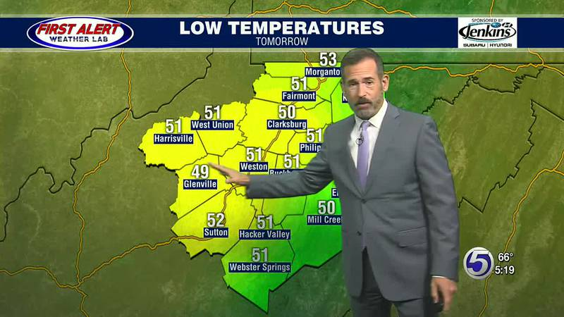 Kevin Corriveau's evening weather