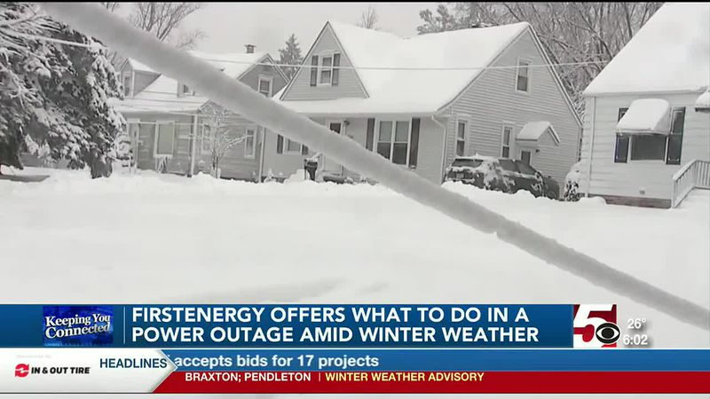 FirstEnergy offers power outage preparation information amid winter weather