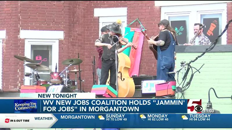 """West Virginia New Jobs Coalition holds """"Jammin' for Jobs"""""""