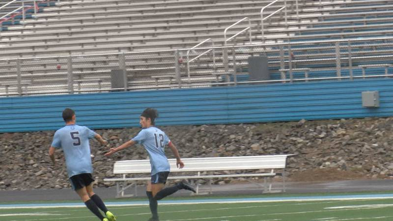 Philip Barbour boy's soccer looses 2-1 to the Williamstown Yellowjackets