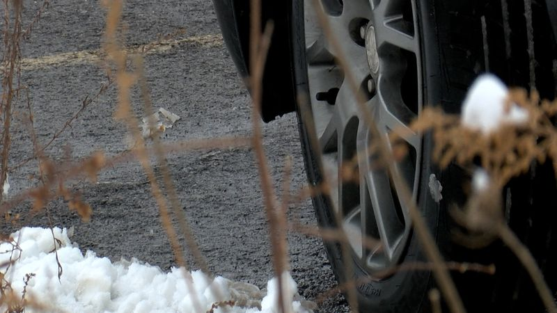 Melted snow could freeze back into ice overnight causing slick roads.