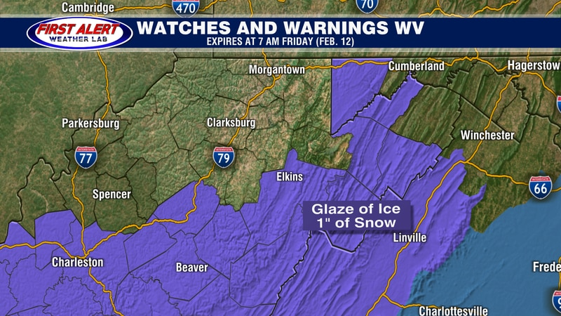 Watches and Warnings as of February 11, 2021.