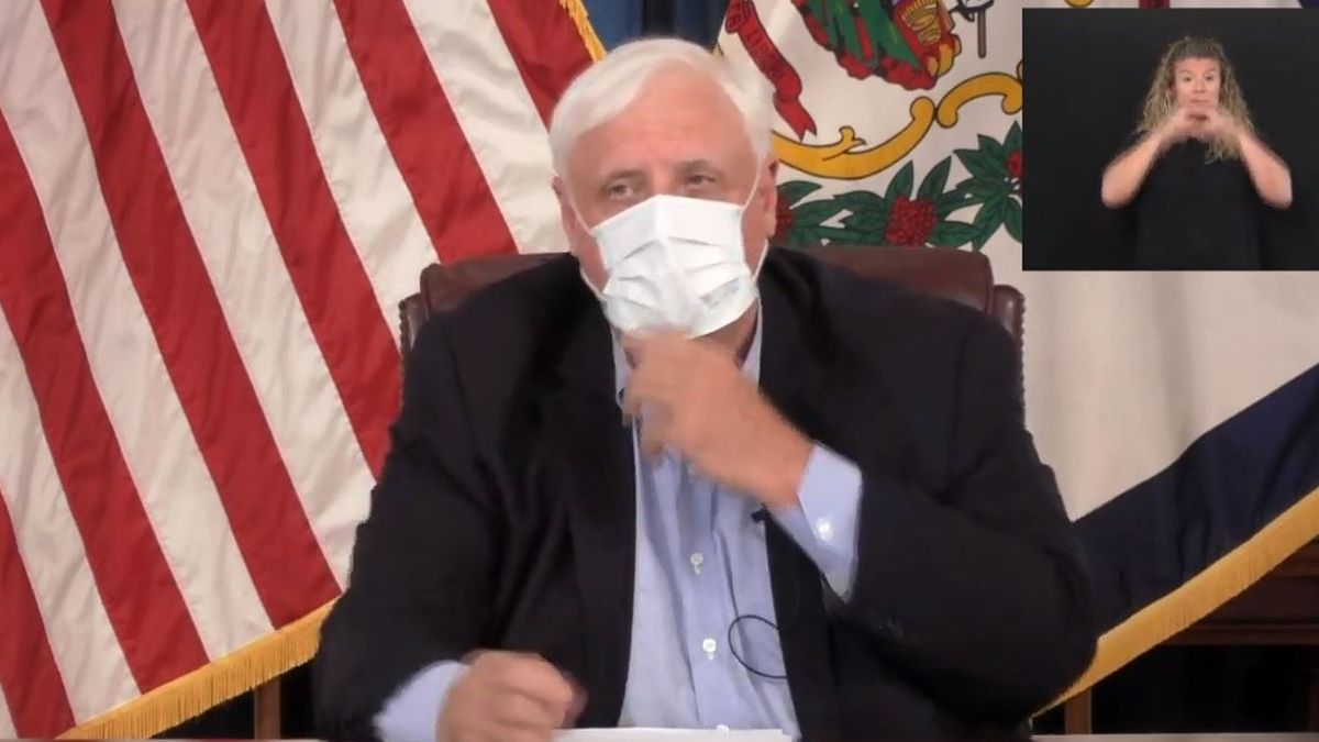 During Monday's press briefing, Governor Jim Justice said he is making face masks and coverings mandatory in indoor public places.