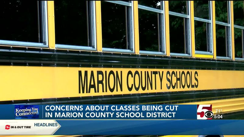 Concerns about classes being cut in Marion County School District