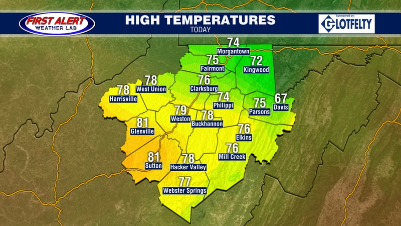 Expected highs for today, September 28, 2021.