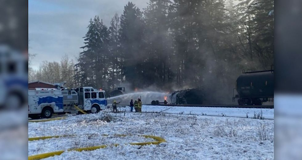 Residents in Custer, Washington were ordered to evacuate after a train carrying crude oil...