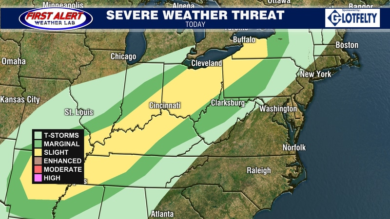 Convective Outlook for today, October 15, 2021.