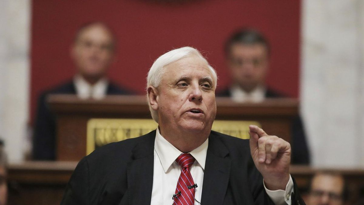 West Virginia Governor Jim Justice delivers his annual State of the State address in the House...
