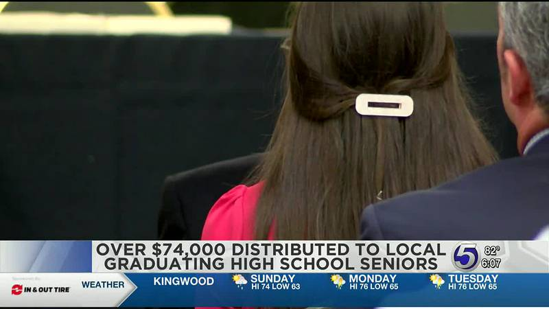Over $74,000 were distributed to local graduating high school seniors Saturday afternoon