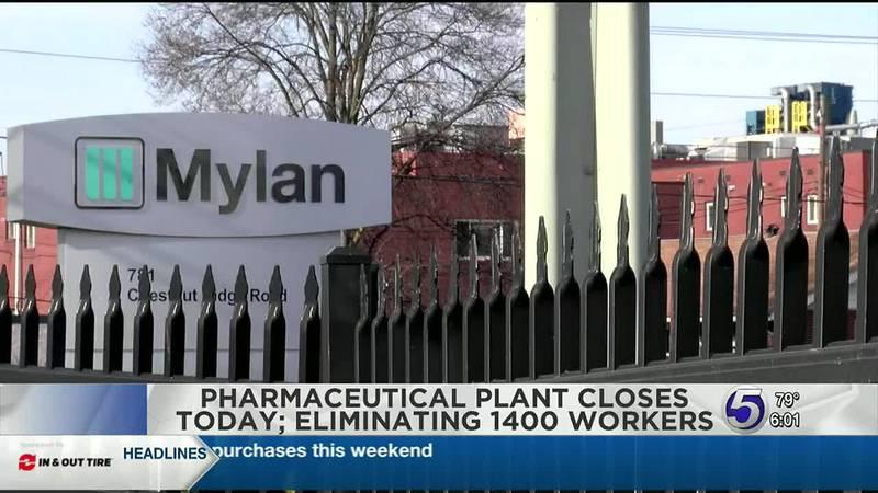 Mylan closes