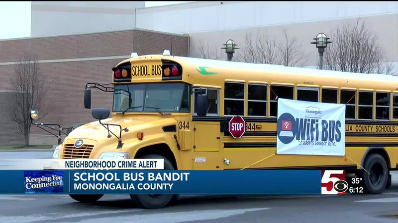 Monongalia County Sheriff's Department in search of a school bus bandit