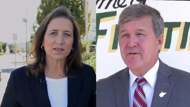 Secretary of State Mac Warner (right) sent a cease and desist to candidate Natalie Tennant...