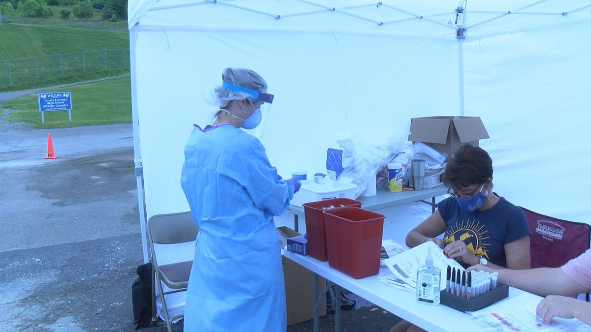 On June 27, the Lewis County Health Department held free COVID-19 testing.