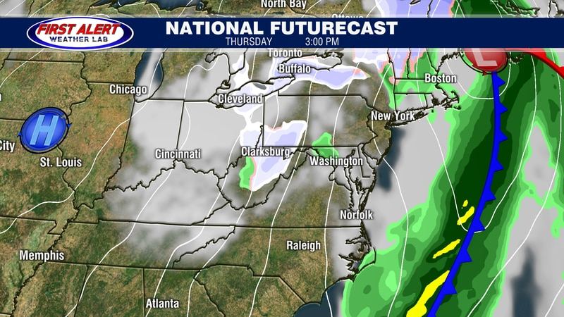 National Futurecast showing conditions at 3 PM, April 1, 2021.