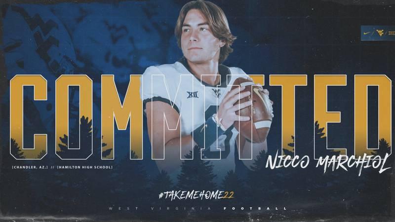 WVU recruit Nicco Marchiol Impresses on Friday night