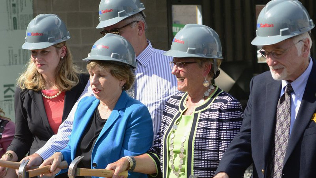Officials for Reconnecting McDowell held a groundbreaking ceremony for the $8 million...