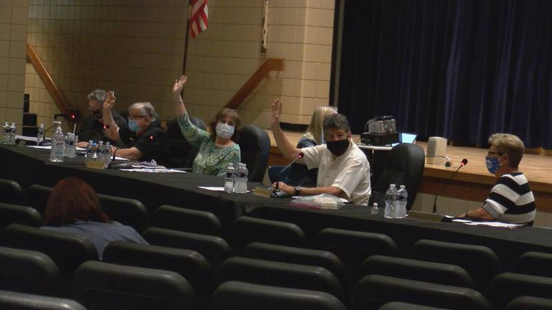 Marion County Board of Education votes on a re-entry plan