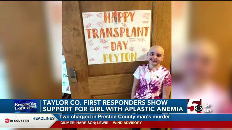 Webster Springs girl diagnosed with aplastic anemia getting support from first responders