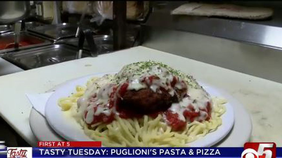 The homemade chicken Parmesan is a local favorite. It starts with deep-fried chicken coated in bread crumbs and Parmesan, on top of a heap of homemade linguine, covered in fresh marinara and melted mozzarella cheese.
