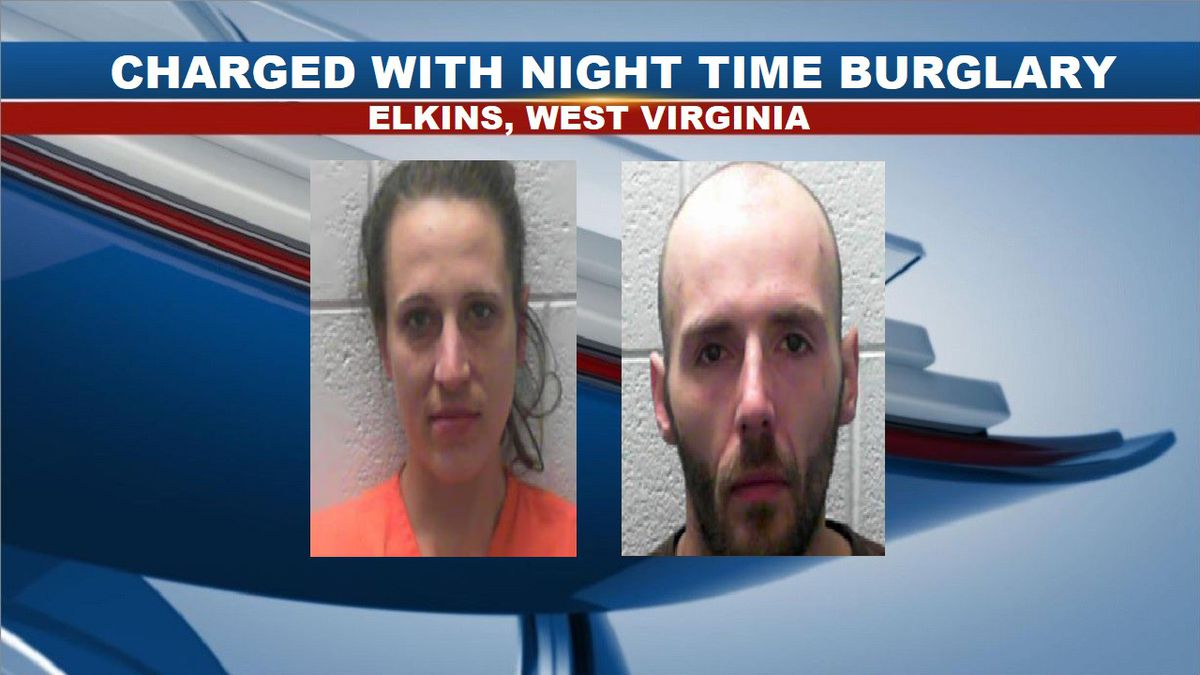 April Watson (left) and Christopher Delaney (right) were arrested and charged with night time burglary. (Source: Tygart Valley Regional Jail)