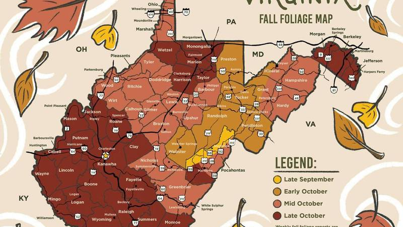 West Virginia Fall map