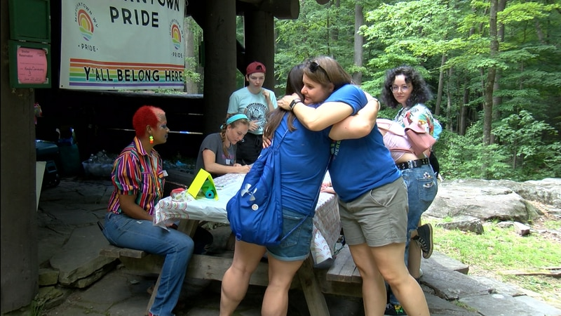 Morgantown Pride celebrates Pride Month at Coopers Rock State Forest.