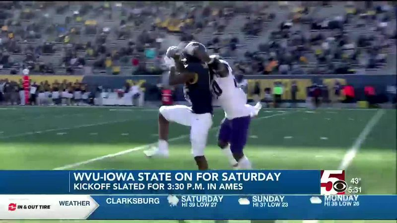 WVU at No. 9 Iowa State to still be played Saturday