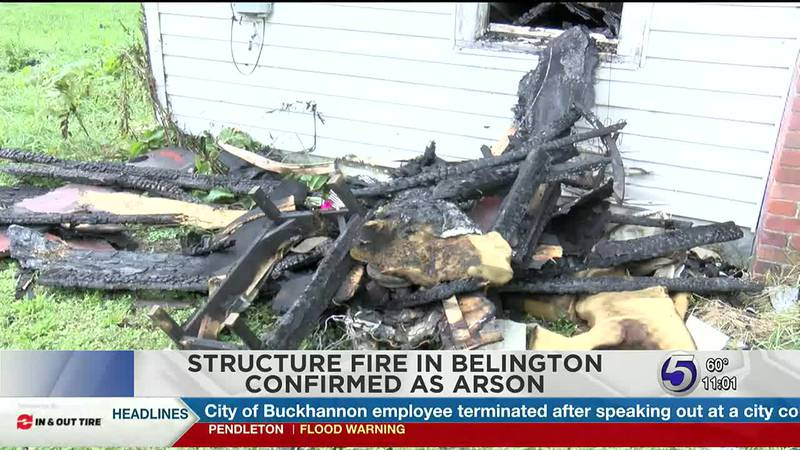 Structure fire confirmed arson by State Fire Marshal's office.