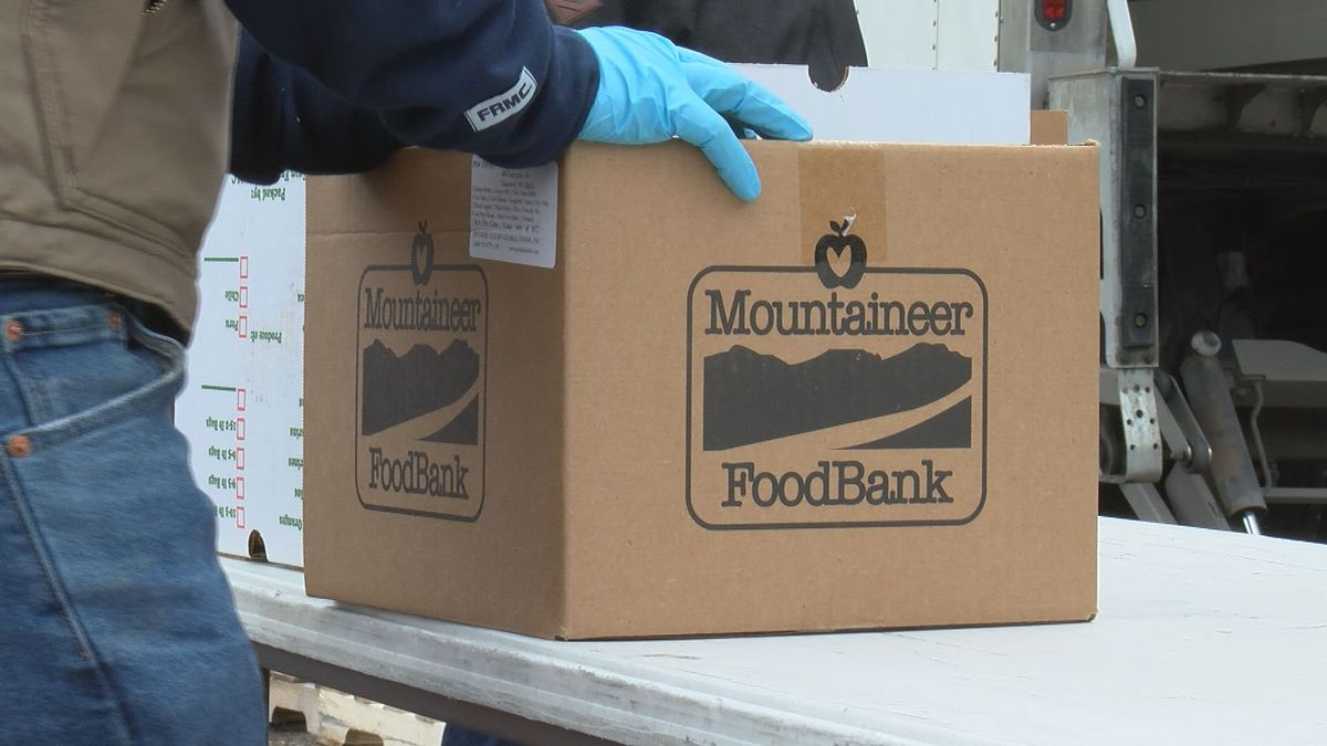 Mountaineer Food Bank holds a drive for veterans in Clarksburg.