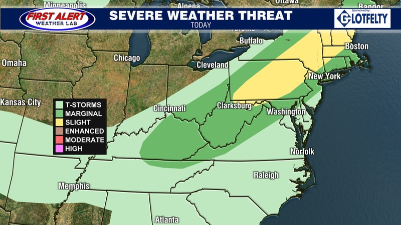 Convective Outlook for today, September 15, 2021.