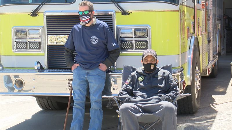 """In under an hour the Mount Morris and Cassville volunteerfire departments, """"Firefighters..."""