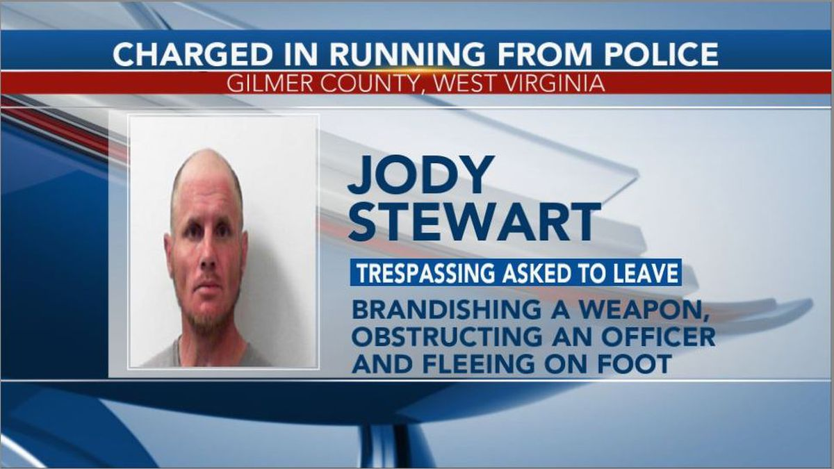 Jody Stewart was arrested and charged with trespassing asked to leave, brandishing a weapon, obstructing an officer and fleeing on foot. (Picture Credit: Central Regional Jail)