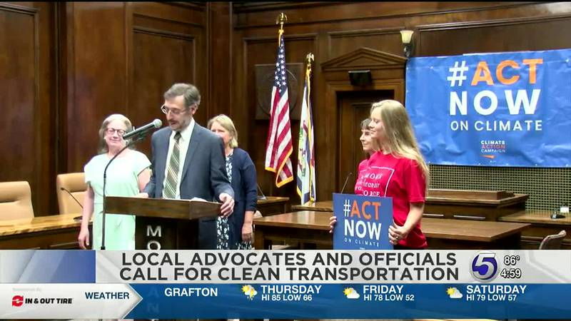 Local Advocates and officials call for clean transportation