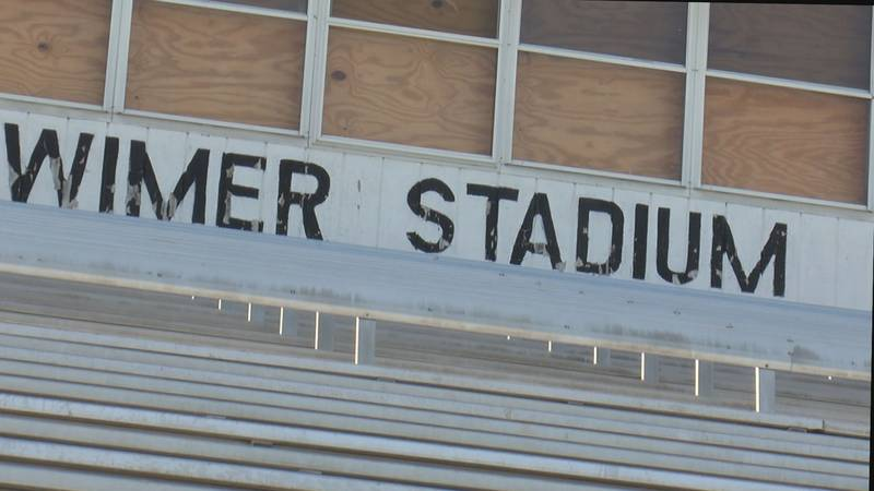 The bleachers at Wimer Stadium were deemed unsafe for spectators, according to Randolph County...