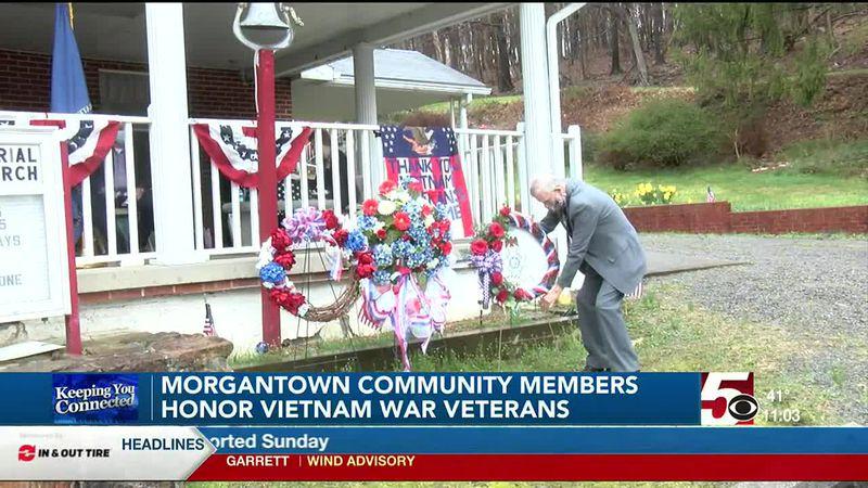 Daughter's of the American Revolution commemorate Vietnam Veterans Day in Morgantown